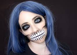 skull mouth makeup tutorial