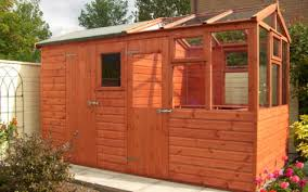 wooden combined shed greenhouse solar
