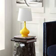 Amazon Com Safavieh Kids Lighting Collection Amy Yellow Mini Table Lamp Home Kitchen