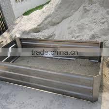 galvanized metal garden raised bed