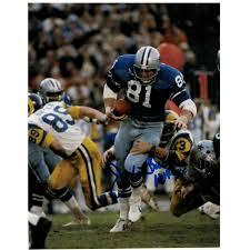 "Jackie Smith Dallas Cowboys Autographed 8x10 Photo Inscribed ""HOF 94""  Autographed"