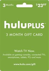 hulu hulu plus 3 month gift card