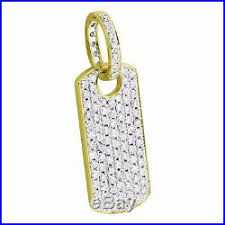 solid 14k yellow gold dog tag pendant 1