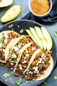 ground turkey tacos with soft corn