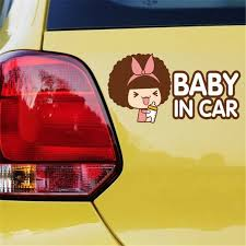 Cartoon Anime Car Stickers One Piece Reflective Vinyl Styling Baby In Car Warning Car Sticker Baby On Board On Rear Windshield Sticker Toy Baby In Car Stickerbaby All Laundry Detergent Aliexpress