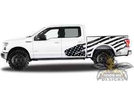 Usa Flag Bed Stickers Graphics Ford F150 Super Crew Cab Decals