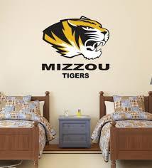Home Garden Mizzou Tigers Wall Decal Missouri University Logo Ncaa Color Vinyl Sticker Cg628 Children S Bedroom Sports Decor Decals Stickers Vinyl Art