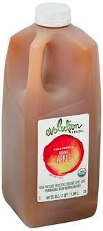 evolution fresh organic apple juice
