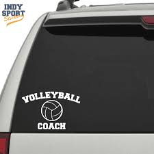 Volleyball Coach Text With Volleyball Car Stickers And Decals