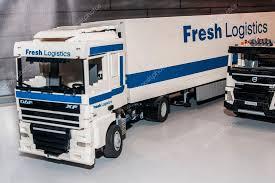 truck daf xf with fresh logistics