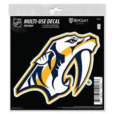 Hockey Nhl Nashville Predators Logo Nhl Color Die Cut Vinyl Sticker Car Window Bumper Decal Sports Mem Cards Fan Shop Cub Co Jp