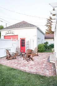 diy salvaged brick patio vintage
