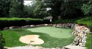 crazy golf back garden designs
