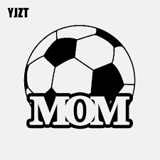 Yjzt 14 2cm 13 2cm Soccer Ball Mom Player Vinyl Decal Car Sticker Football Sport Black Silver C3 1749 Car Stickers Aliexpress