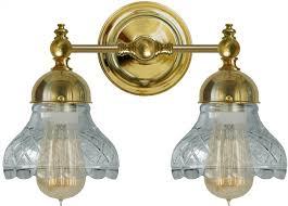 bathroom wall lamp bergman brass