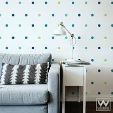 Small Blue Polka Dots Shapes Vinyl Wall Decal Confetti Wall Designs Wallternatives