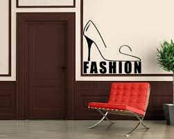 Wall Stickers Vinyl Decal Fashion Style Female Shoes Shopping Wall Ig073 For Sale Online