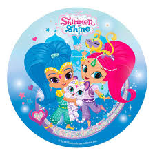 Disco De Azucar Shimmer And Shine 20 Cm My Karamelli