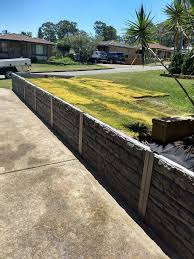 Ridgi Rocks Concrete Sleeper Steel Post Retaining Wall Available At Bunnings Warehouse For More Informa Garden Fencing Fence Design Backyard Retaining Walls
