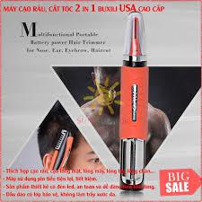 May Cao Rau Tot Máy cạo râu kiêm tông đơ cắt tóc 2 trong 1 BUXILI USA -  Siêu tiện ích và đa năng Bảo hành 1 đổi 1 trên hệ thống