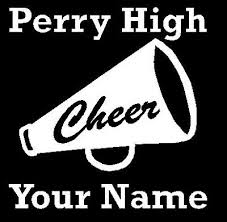 Cheerleading Megaphone Car Decal Sticker Personalized With School And Name 4 99 Picclick