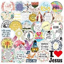 Amazon Com Christian Stickers Jesus Faith Stickers Pack 50 Pcs Jesus God Bless You Stickers Religious Bible Faith Stickers Bible Journaling Supplies And Christian Gifts Arts Crafts Sewing