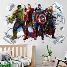 Creative Stereo Sticker Marvel Iron Man Spider Man Captain Creative 3d Wall Stickers Three Dimensional Childrens Bedroom Living Room Dec Wall Quotes Stickers Wall Removable Stickers From The Dream Of Link 75 18 7 Dhgate Com