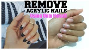 how to easily remove acrylic nails at