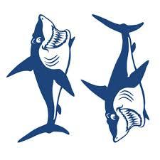 4x Vinyl Cartoon Shark Teeth Mouth Shark Decals Kayak Boat Car Sticker New Archives Midweek Com