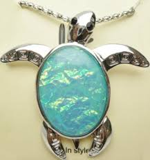 sea turtle necklace marbelized glass