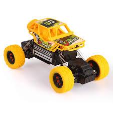 Xe Đua 4WD Xe Ô Tô Điều Khiển Từ Xa Ngoài Đường Đồ Chơi Lái Xe BigFoot Xe  Tải Monster 4CH Điện Đồ Chơi Cho Bé Trai Trẻ Em quà Tặng (Vàng) 