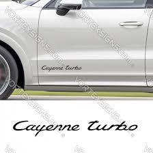 Porsche Cayenne Turbo Style Vinyl Decal Sticker For Porsche