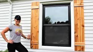 cedar shutters easy diy project