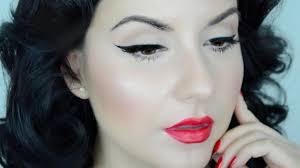 pinup cat eye makeup tutorial for