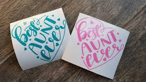Best Aunt Ever Heart Car Decal Christmas Stocking Stuffer Gift For Aunt Aunt Gifts Christmas Stocking Stuffers Christmas Gifts For Women