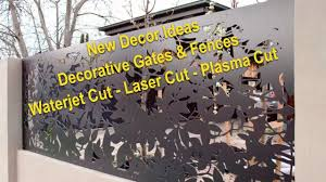 Decorative Fence Gate Panels Fence Design Ideas For House 2019 Youtube