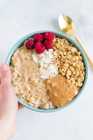 thick and fluffy egg white oatmeal