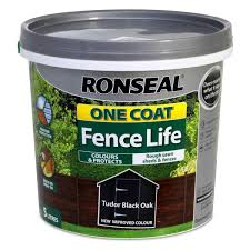 Ronseal One Coat Fence Life Exterior Wood Paint Brush On Protection 5ltr Ebay