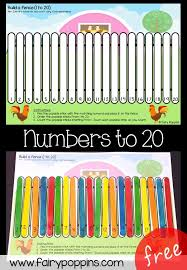 Farm Fence Number Ordering Mats Fairy Poppins
