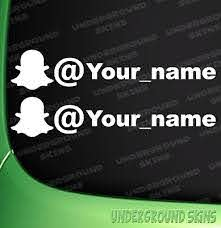 Snapchat Your Name X2 Funny Jdm Drift Euro Window Vinyl Decal Car Sticker Ebay
