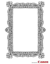 images of free printable picture frame