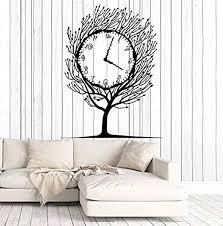 Amazon Com Vinyl Wall Decal Art Tree Clock Salvador Dali Home Decor Stickers Large Decor 1280lk Home Kitchen