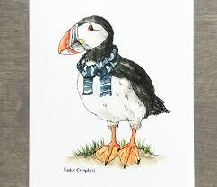 Puffin Print Bird Print Animal Wall Art Etsy