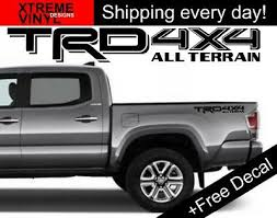 2x Trd 4x4 All Terrain Toyota Tacoma Tundra Truck Bed Side Vinyl Decal Stickers 16 95 Picclick