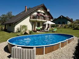 Овальный бассейн для дачи, каркасный бассейн овальной формы - Morevdome.com