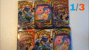 Najnowsze karty pokemon COSMIC ECLIPSE odc. 1/3 - YouTube