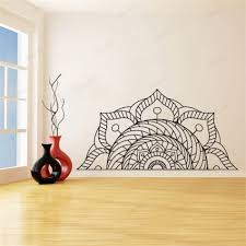 Half Mandala Wall Sticker Bedside Wall Art Decals Kids Rooms Bedroom Home Decor Living Room Vinyl Mural Naklejki Na Sciane Wu138 Wall Stickers Aliexpress