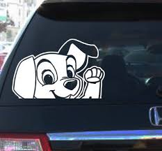Lady Tramp Movie Car Vinyl Decal Sticker Cartoon Dog Color White Dog Decals Custom Vinyl Decal Car Decals Vinyl