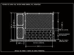 Detail Mesh Fence And Gate Cyclone In Autocad Cad 33 11 Kb Bibliocad