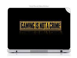 Laptop Vinyl Decal Sticker Skin Print Gaming Is Not A Crime Custom Art Fits Thinkpad T43 15 Newegg Com